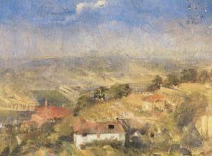 Italienische Landschaft mit Bauernhöfen