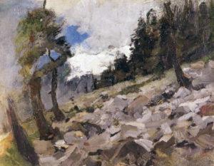 Steinhalde Richtung Piz Grevasalvas